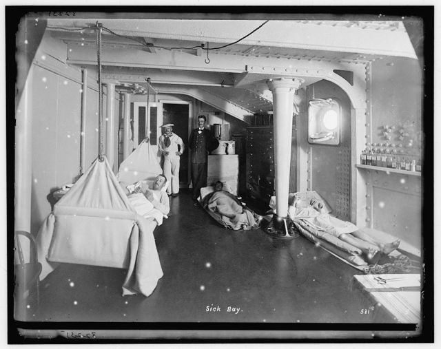 Sick bay, [U.S.S. Brooklyn]