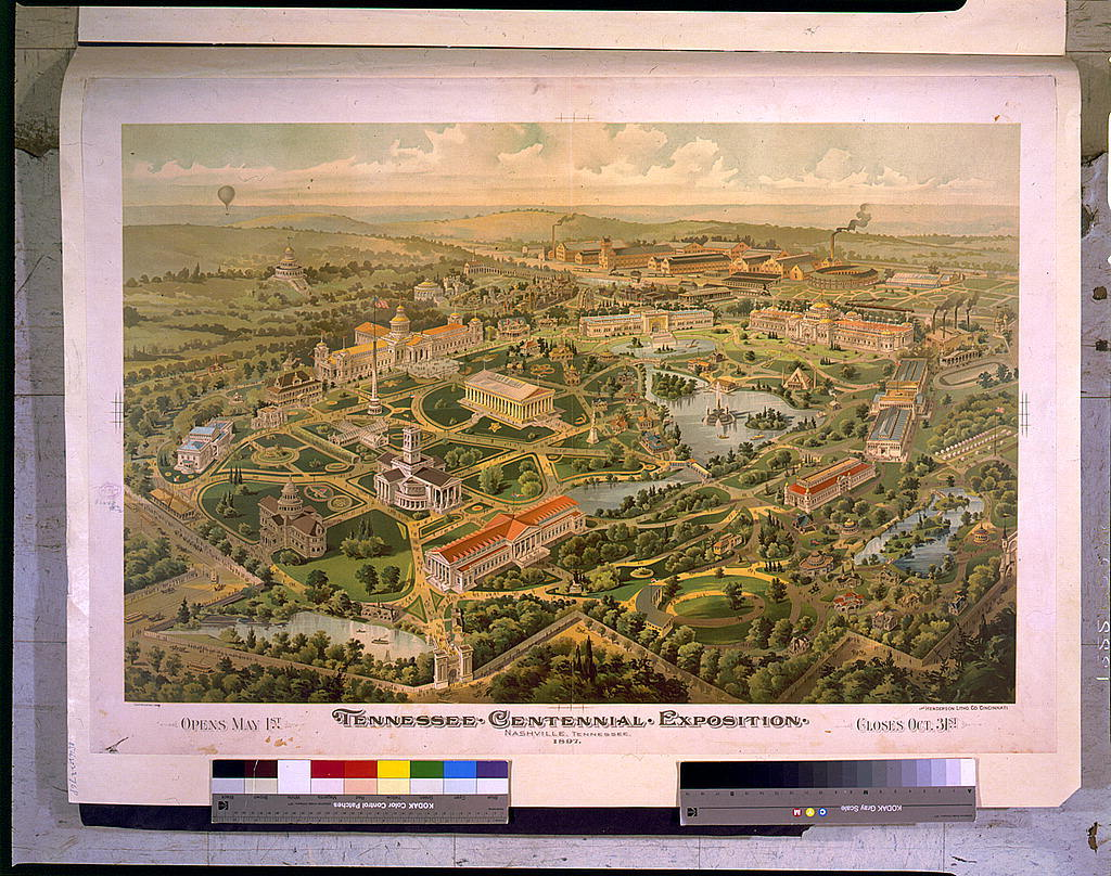 Tennessee Centennial Exposition, Nashville, Tennessee, 1897. Opens May 1st - Closes Oct. 31st / The Henderson Litho. Co., Cincinnati.