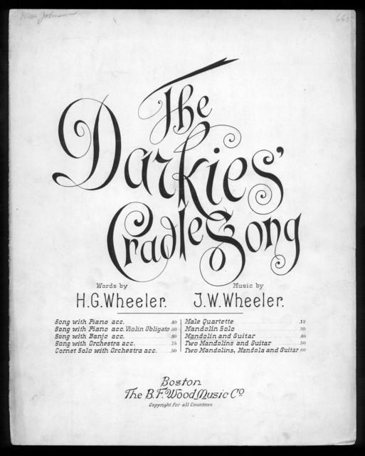 The  darkies' cradle song