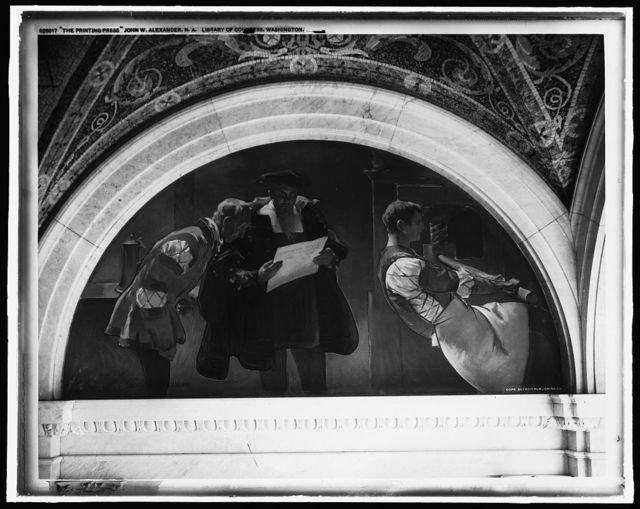 The Printing press, John W. Alexander, N.A., Library of Congress, Washington, [D.C.]