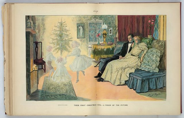 Their first Christmas eve; - a vision of the future / C.J. Taylor.