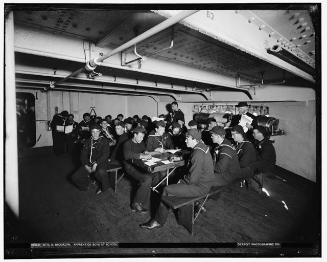 U.S.S. Brooklyn, apprentice boys at school