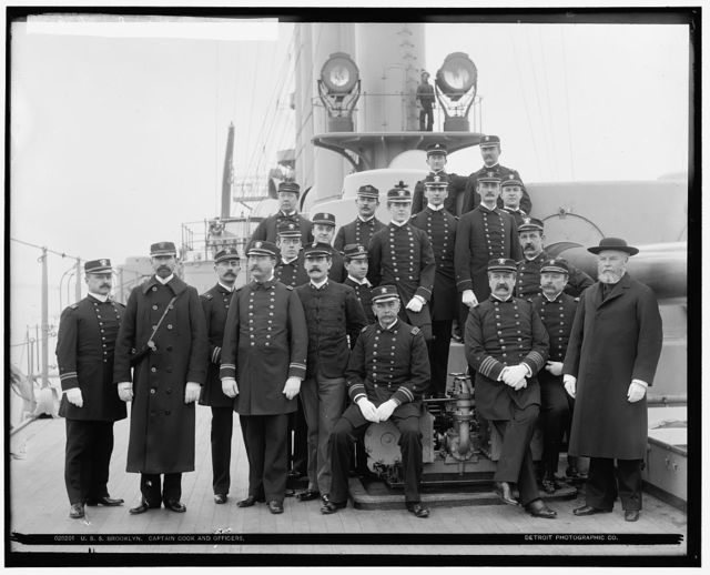 U.S.S. Brooklyn, Captain Cook and officers