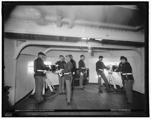 U.S.S. Brooklyn rapid fire guns and crews