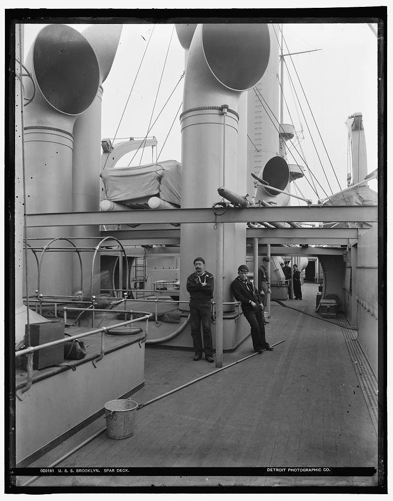 U.S.S. Brooklyn spar deck