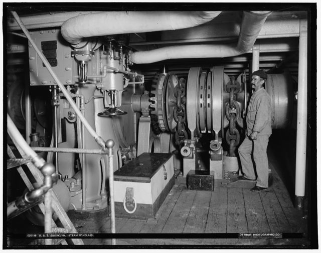 U.S.S. Brooklyn steam windlass