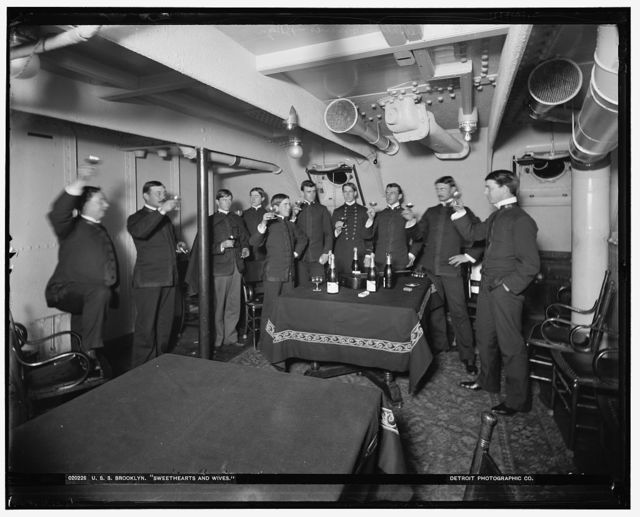 U.S.S. Brooklyn, sweethearts and wives