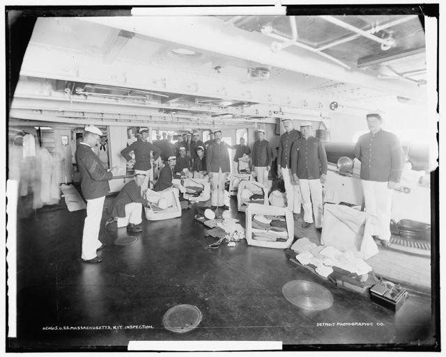U.S.S. Massachusetts, kit inspection