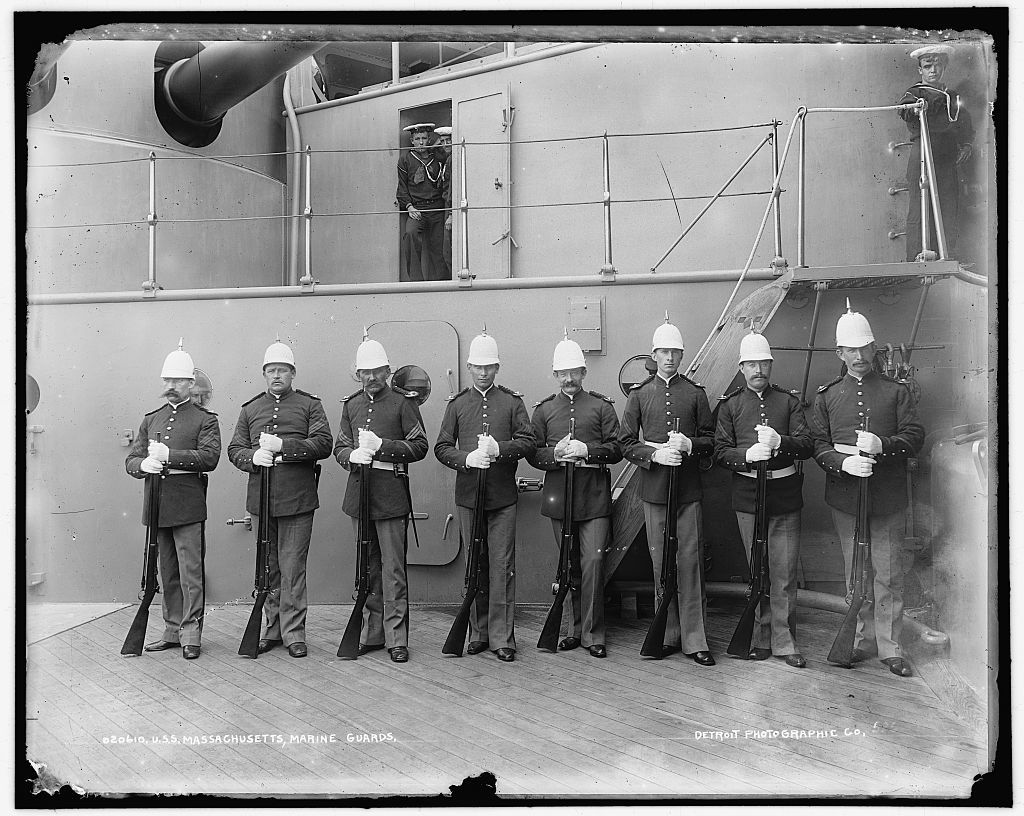 U.S.S. Massachusetts, marine guard