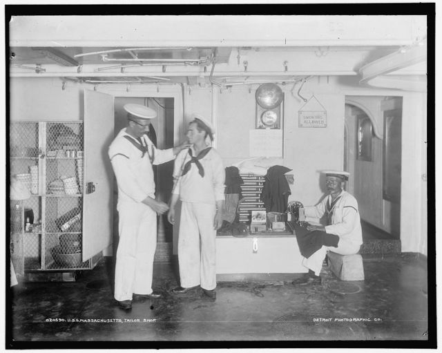 U.S.S. Massachusetts, tailor shop