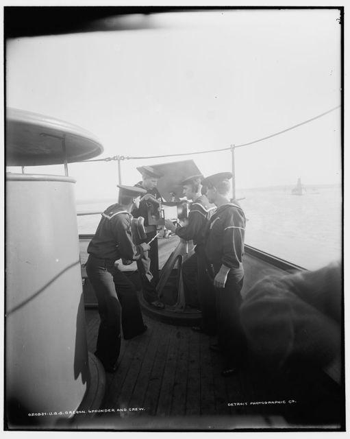 U.S.S. Oregon, 6-pounder and crew
