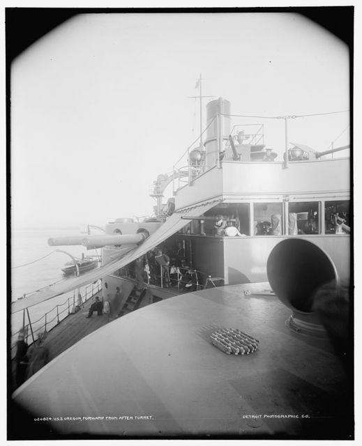 U.S.S. Oregon, forward from after turret