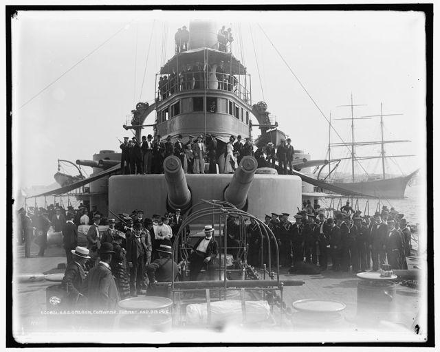 U.S.S. Oregon, forward turret and bridge