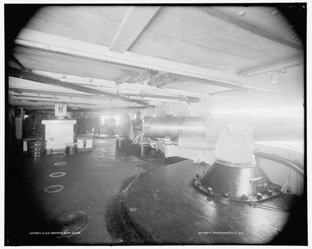 U.S.S. Oregon, gun deck