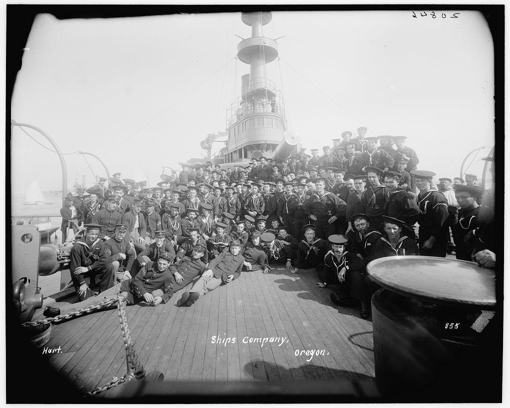 U.S.S. Oregon, ship's company
