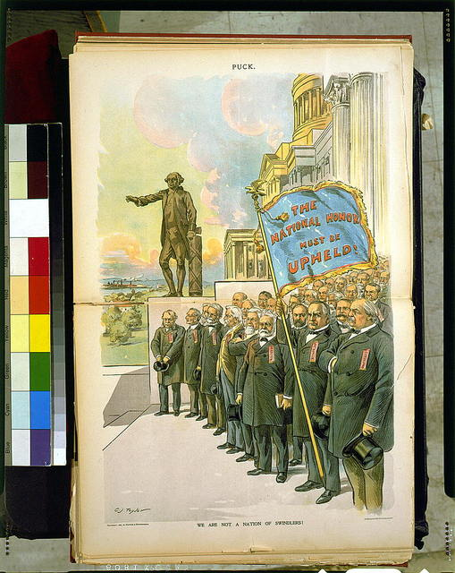 We are not a nation of swindlers! / C.J. Taylor ; J. Ottmann Lith. Co., Puck Building, N.Y.