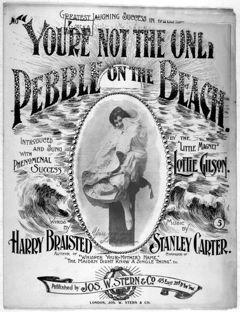You're not the only pebble on the beach