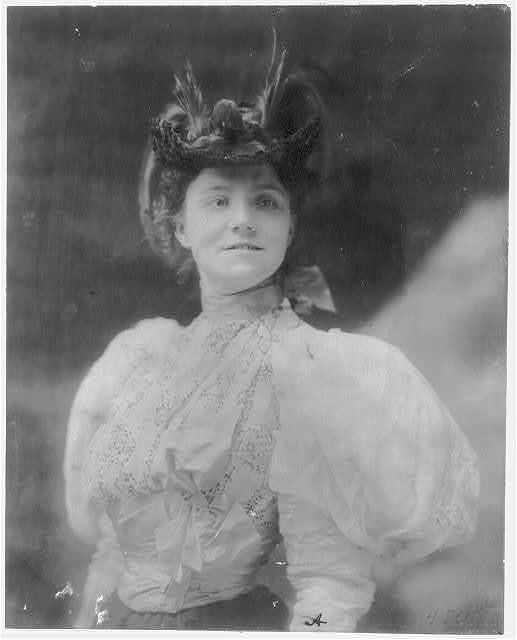 [Yvette Guilbert, 1865-1944, half length portrait, standing, facing slightly right]