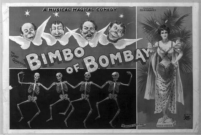 A magical musical comedy, Bimbo of Bombay