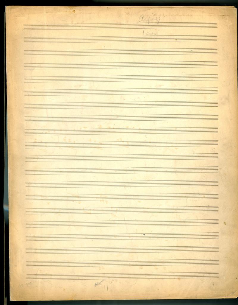 Arpège, op. 76, no. 2, 6 Sept. 1897