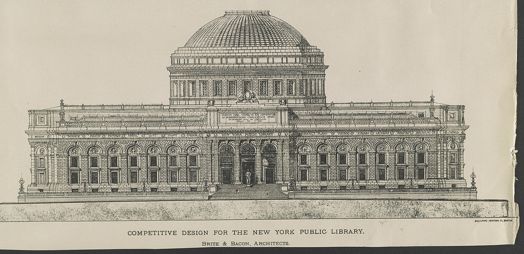 Competitive design for the New York Public Library - PICRYL