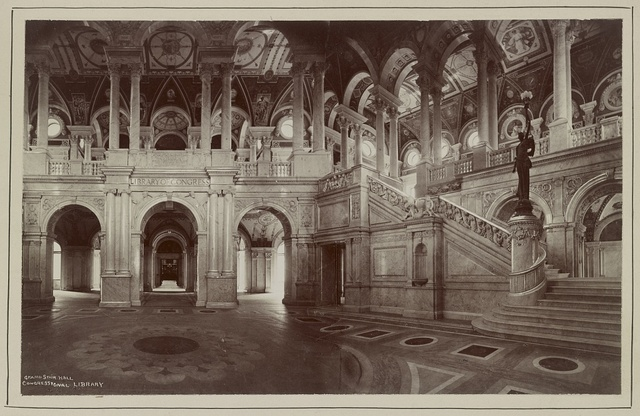 Congressional Library. Grand stair hall