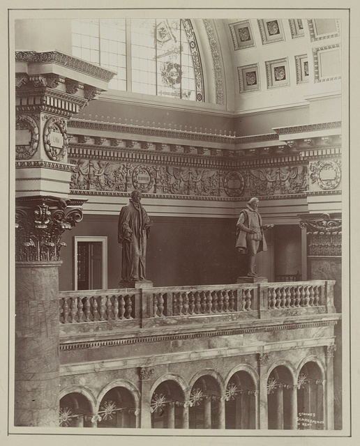 [Congressional Library]. Statues of Shakespeare & Kent