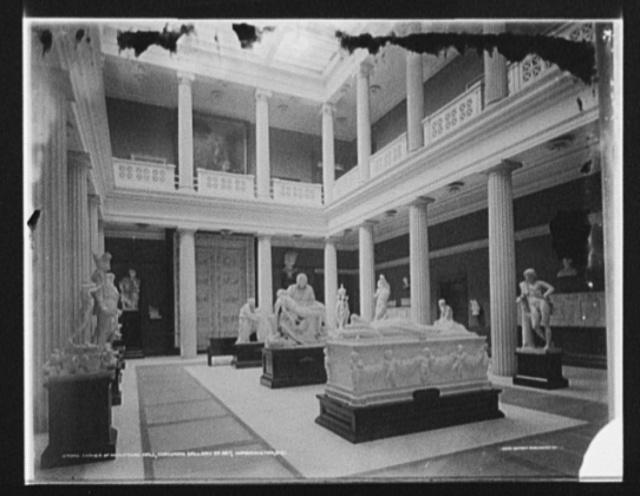 Corner of sculpture hall, Corcoran Gallery of Art, Washington, D.C.