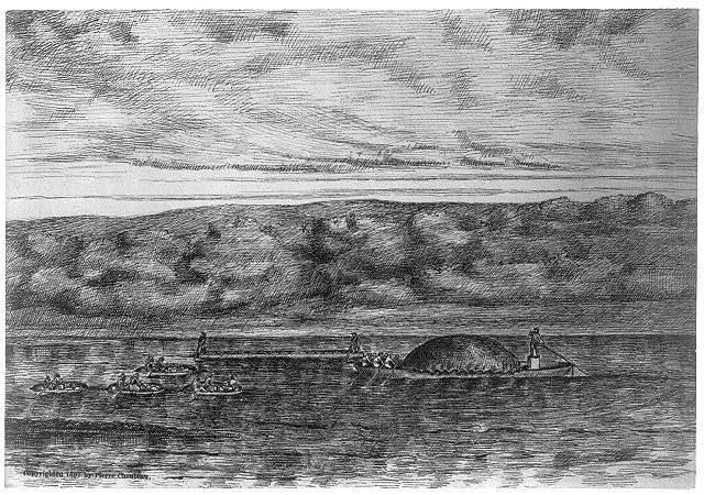 [Early scenes of Missouri Territory, 180-]: Bull Boat