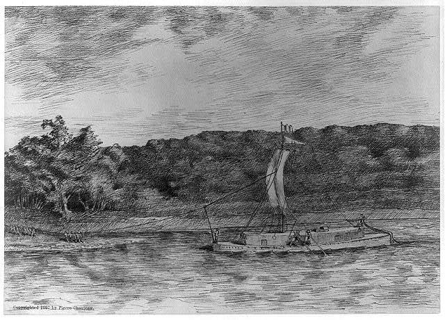 [Early scenes of Missouri Territory, 180-]: Cordell Boat