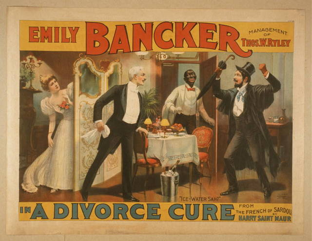 Emily Bancker in A divorce cure from the French of Sardou by Harry Saint Maur.