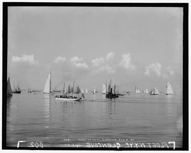 Fleet of N.Y.Y.C. [New York Yacht Club], Glencove [sic]