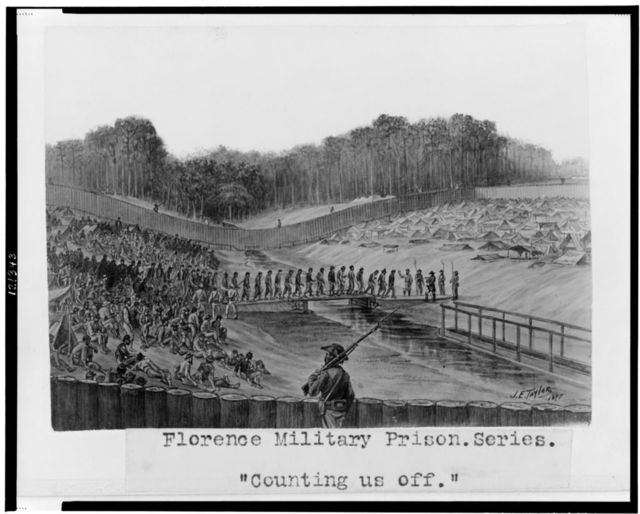 "Florence military prison series--""Counting us off"" / J.E. Taylor."
