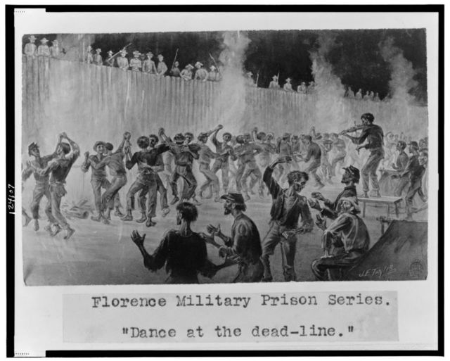 "Florence military prison series--""Dance at the dead-line"" / J.E. Taylor."