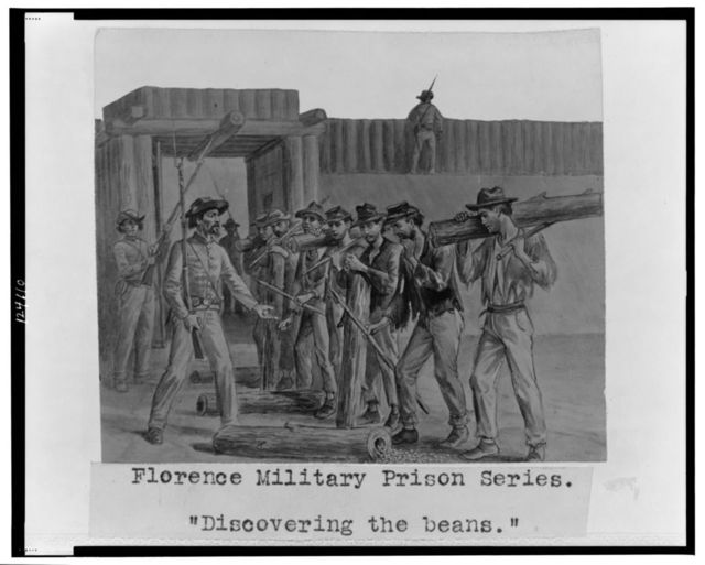 "Florence military prison series--""Discovering the beans"" / J.E. Taylor."