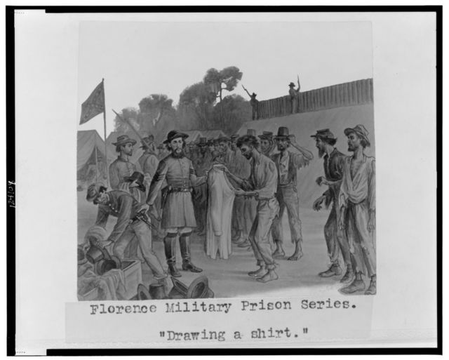 "Florence military prison series--""Drawing a shirt"" / J.E. Taylor."