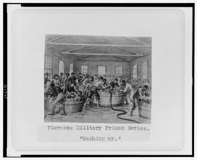 "Florence military prison series--""Washing up"" / J.E. Taylor."