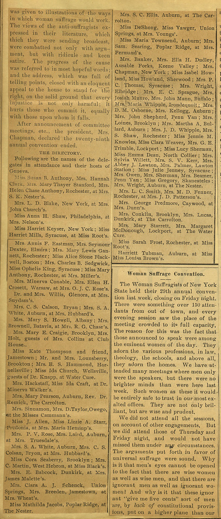 For Suffrage. State Convention of the Woman Suffragists; A Successful Gathering; page 2