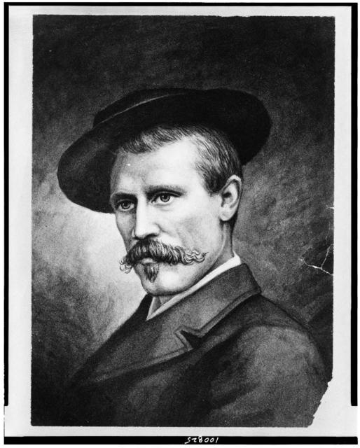 [Fridtjof Nansen, head-and-shoulders portrait, facing left]
