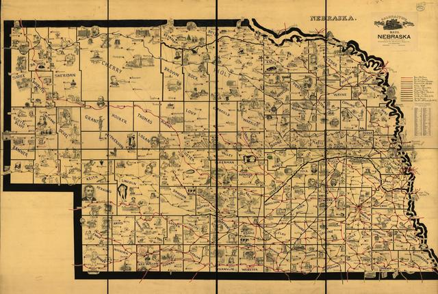 Galbraith's railway mail service maps, Nebraska.