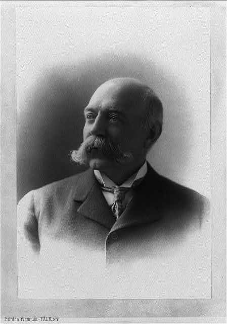 [George Burritt Sennett, head-and-shoulders portrait, facing left]
