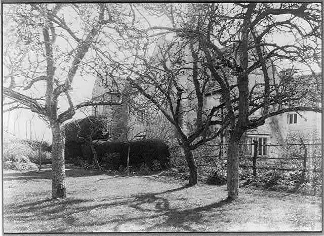 Kelmscott Manor: from the orchard