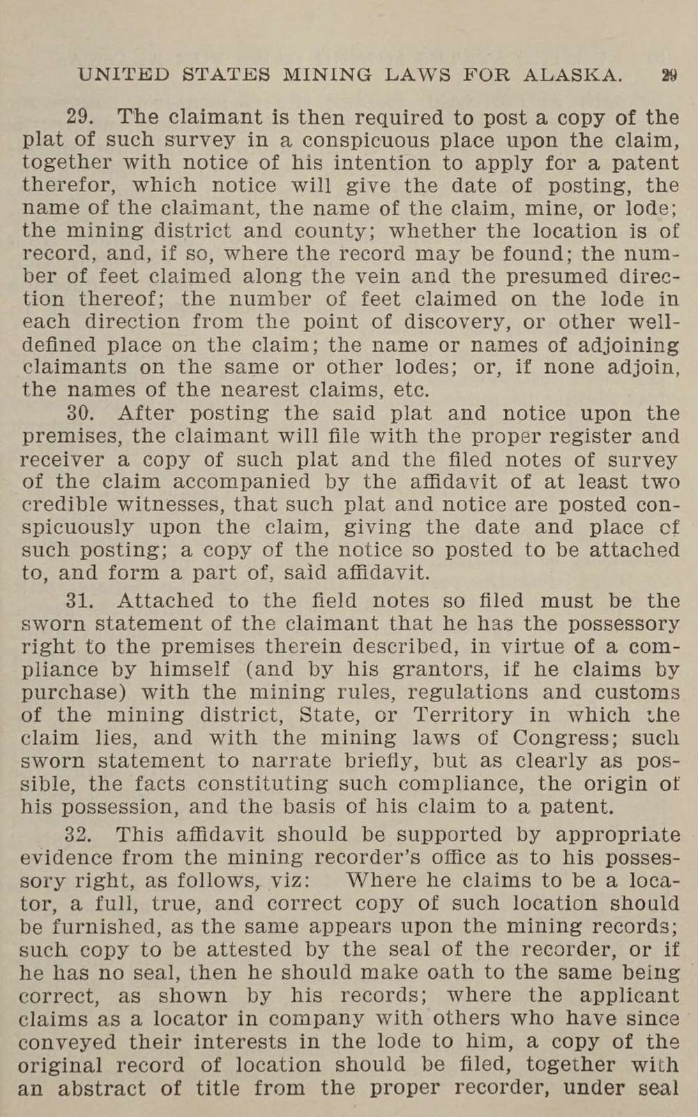 Klondike; mining laws, rules and regulations of the United States and Canada; applicable to Alaska and Northwest territory ..