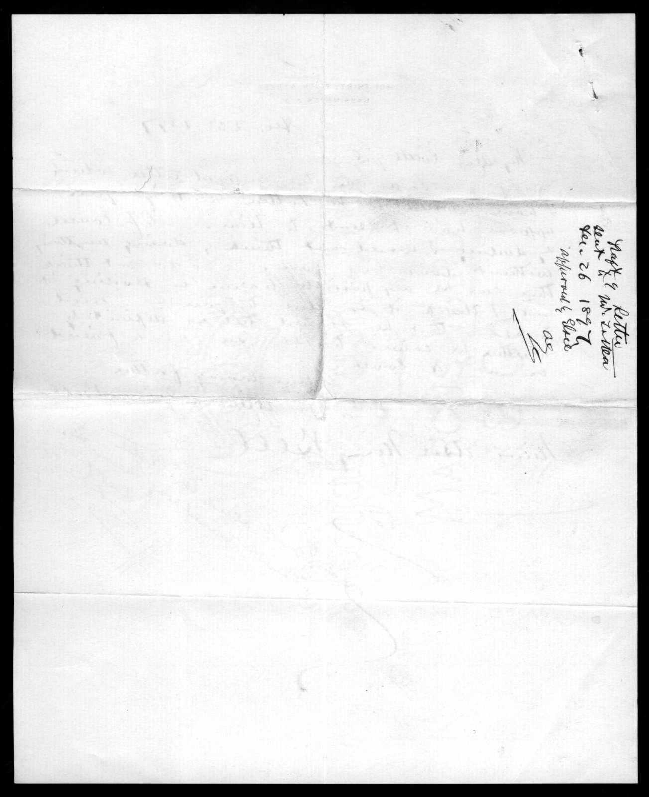 Letter from Alexander Graham Bell to Elsie Bell Grosvenor, December 25, 1897