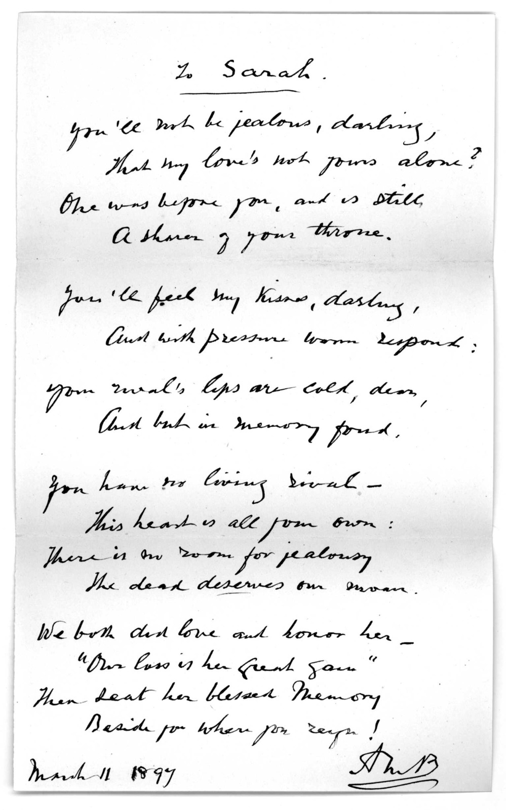 Letter  From Alexander Melville Bell To Alexander Graham Bell And Mabel Hubbard 13 1600