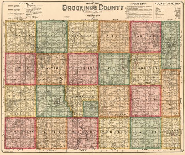 Map of Brookings County, South Dakota : compiled and drawn from a special survey and from official records.
