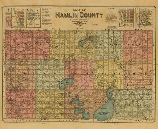 Map of Hamlin County, South Dakota : compiled and drawn from a special survey and official records.