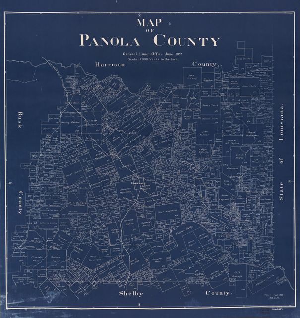 Map of Panola County /