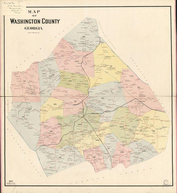 Map of Washington County, Georgia /