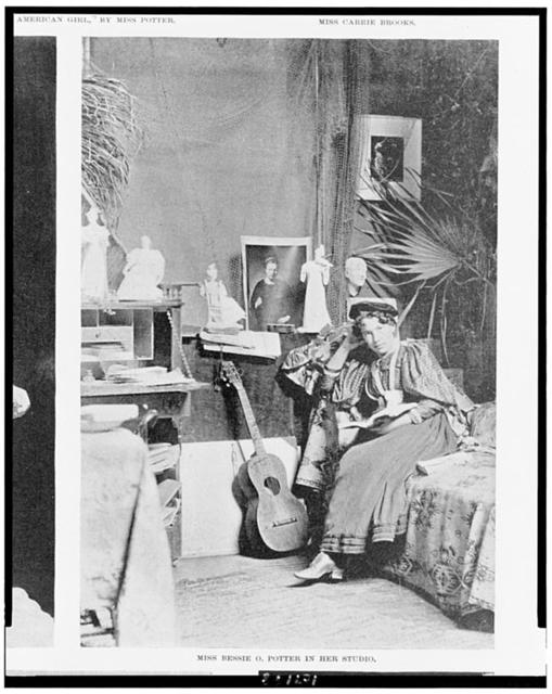 Miss Bessie O. Potter in her studio